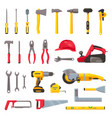 building tools construction hardware screwdriver vector image