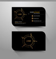 business name card black and gold background vector image vector image
