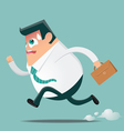 Businessman in hurry preview vector image vector image