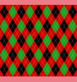 christmas new year argyle pattern scottish cage vector image
