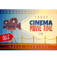 cinema horizontal poster vector image