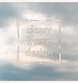 clouds vintage background vector image