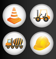 constructions icons vector image vector image
