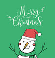 cute snow christmas greeting card vector image vector image