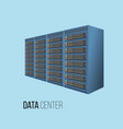 data center hosting concept with data storage vector image vector image