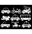 Different type of transportations vector image vector image
