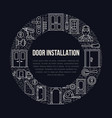 doors installation signs repair banner vector image vector image