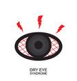 dry eye syndrome icon tired sleepy eye symbol vector image vector image