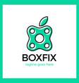 eco box fix logo vector image vector image
