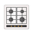 electric cooking hob vector image vector image
