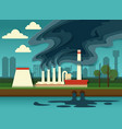 environmental pollution concept paper cut vector image