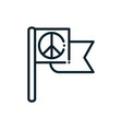 flag symbol peace and human rights line vector image