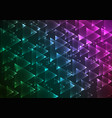 flat multi gradient geometric rectangle background vector image