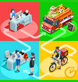 food truck chinese restaurant home delivery vector image