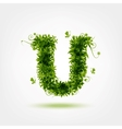Green eco letter U for your design vector image
