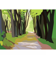 Green Forrest Trees vector image