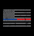 grey police and firefighter flag background vector image vector image