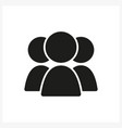 group three people icon in simple black design vector image