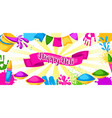 happy holi colorful banner of vector image vector image