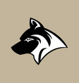 head wolf image vector image vector image