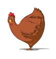 hen cartoon vector image