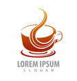 Hot coffee cup logo concept design symbol graphic