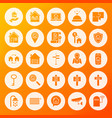 house solid circle icons vector image vector image