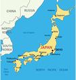 Japan - map vector image
