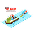 jet skiing isometric design concept vector image vector image