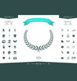 laurel wreath element for yor design vector image