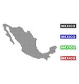 mexico map in dot style with grunge title stamps vector image