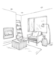 Modern interior room sketch Chair and furniture vector image vector image