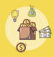 money and ideas concept vector image vector image