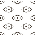 Monochrome human eyes seamless pattern back vector image vector image