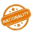 Nationality grunge icon vector image