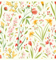 natural seamless pattern with translucent blooming vector image