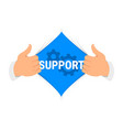 opening shirt support vector image vector image