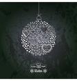 ornate christmas ball made hearts romantic vector image vector image