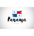panama country flag concept with grunge design vector image vector image