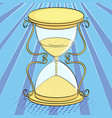 pop art background imitation of comics hourglass vector image