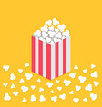 popcorn popping on floor red yellow strip square vector image vector image