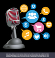 public relations background vector image vector image