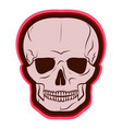 red skull drawing by hand vector image vector image