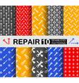 Repair ten seamless patterns vector image vector image