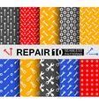 Repair ten seamless patterns vector image