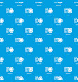 restaurant pattern seamless blue vector image