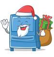 santa mailbox character cartoon style vector image vector image