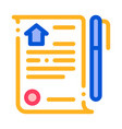 selling buying agreement thin line icon vector image