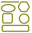 set of different danger tape frames vector image