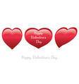 set of valentines day glossy heart shape icons vector image